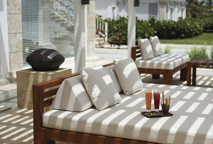 The sun porch at Six Senses Spa Punta Cana