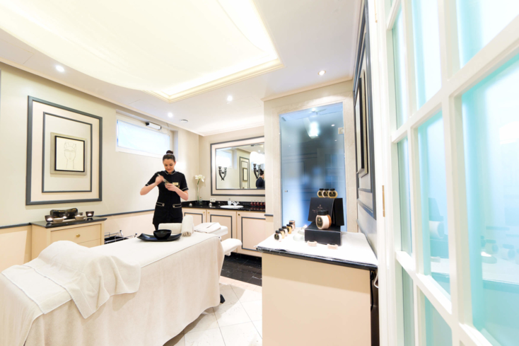 A treatment room at Sacher Boutique Spa