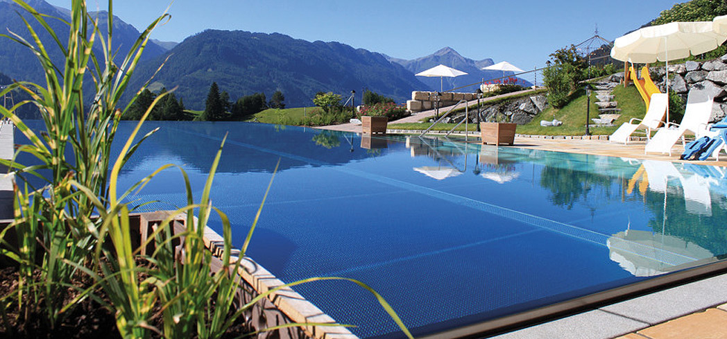 The panoramic swimming pool at Schalber Wellness & Spa