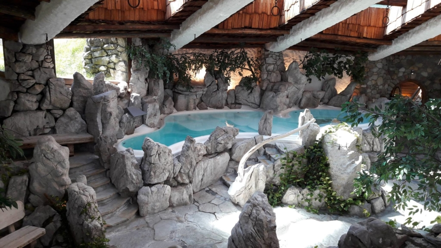 One of the Sauna & Waterworld spaces at Stanglwirt Spa