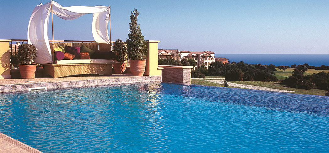 Enjoy ocean views at The Retreat Spa at Aphrodite Hills Resort