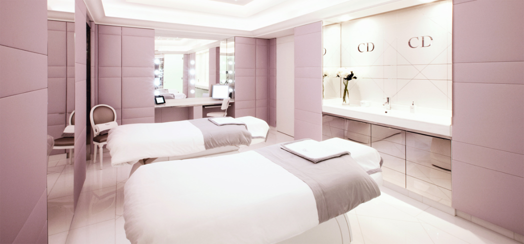 One of the elegant treatment rooms at Dior Institut
