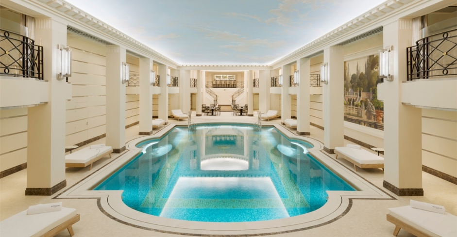 The indoor swimming pool at the Ritz Club Paris