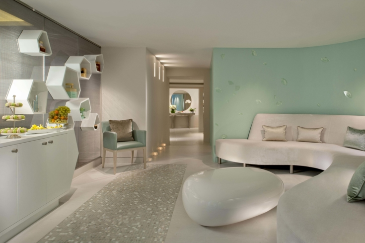 The relaxing area at Valmont Spa at Le Meurice
