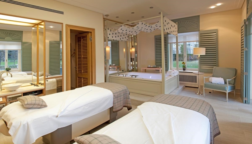 A double treatment room at Brenners Spa