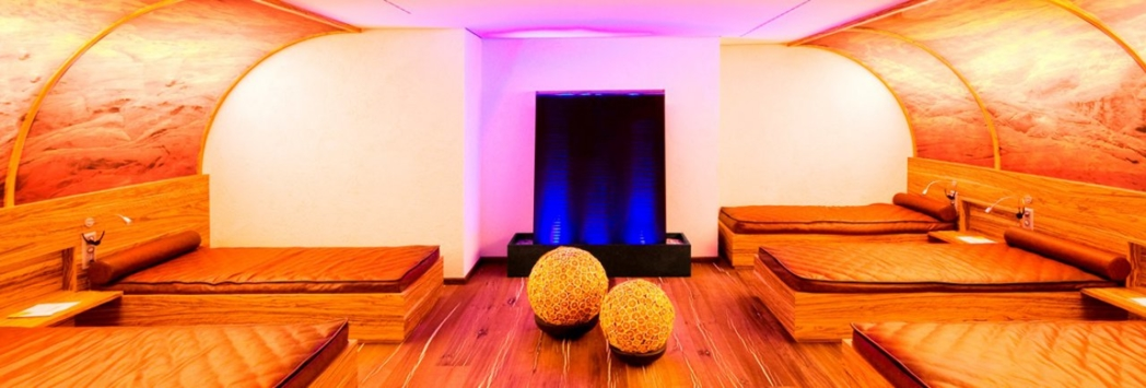 One of the relaxation spaces at Sackmann's Spa