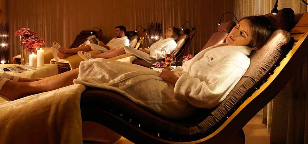 The relaxation room at the Spa at Druids Glen
