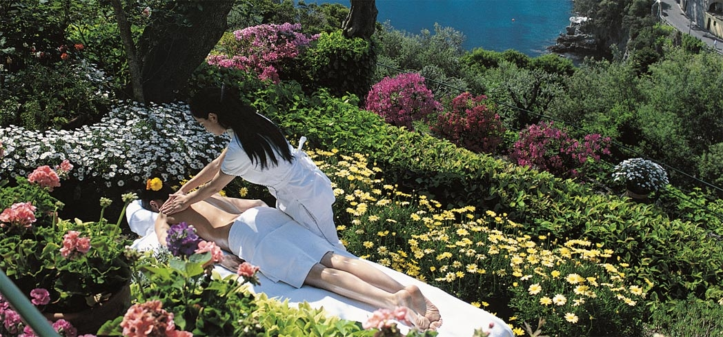 An outdoor treatment at the Wellness Centre at Belmond Hotel Splendido Portofino