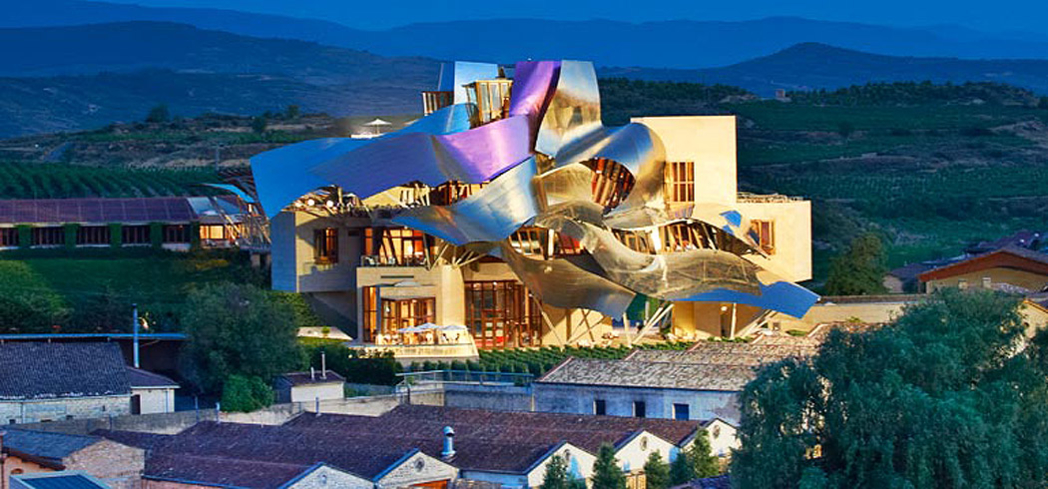 The Vinothérapie SPA Caudalie is located inside Hotel Marques de Riscal, A Luxury Collection Hotel, Elciego