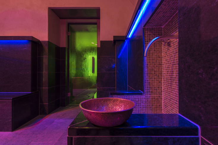 The modern hammam at Hotel Saratz Spa