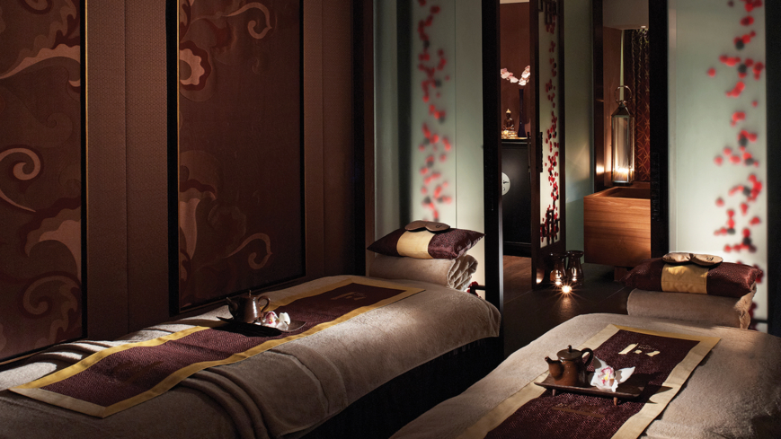 A treatment room at Chuan Spa at The Langham, London.
