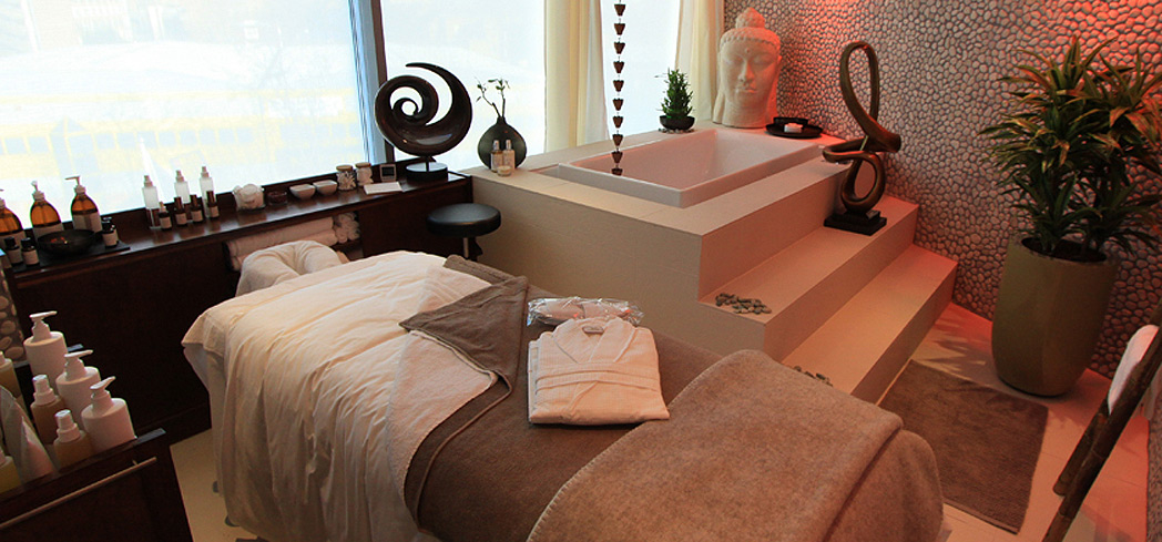 A treatment room at River Well Being Spa at Hotel Rafayel on the Left Bank in London, England