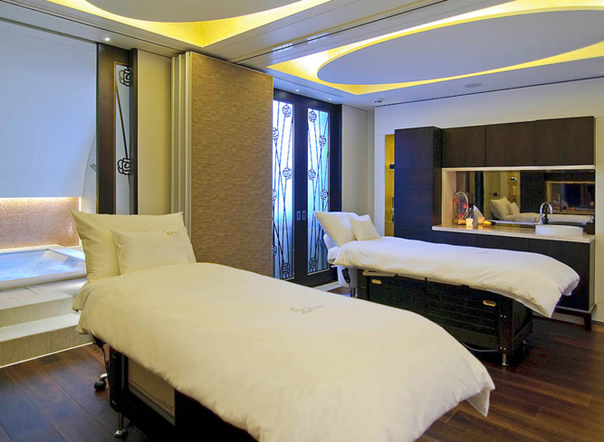 A treatment room at So Spa at Sofitel London St James