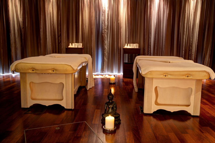 A double treatment room at Serenity Spa at Seaham Hall