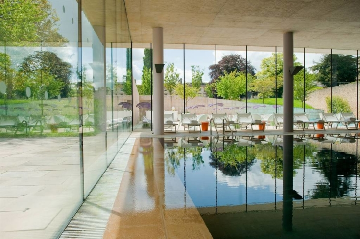The indoor pool at C-Side Spa inside Cowley Manor