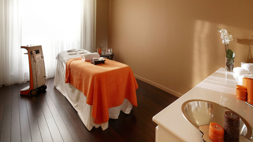 A treatment room at L. RAPHAEL Beauty Spa