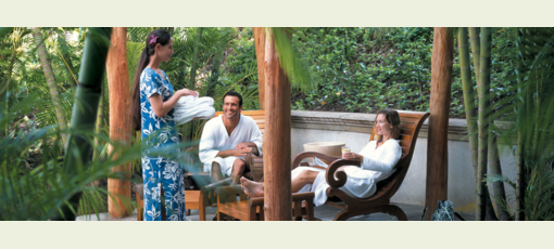 The spa at the Fairmont Orchid, Hawaii