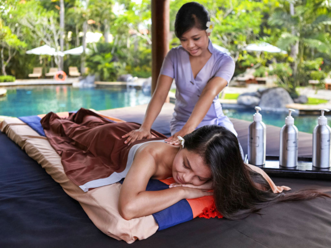 A massage at The Royal Beach Seminyak Bali