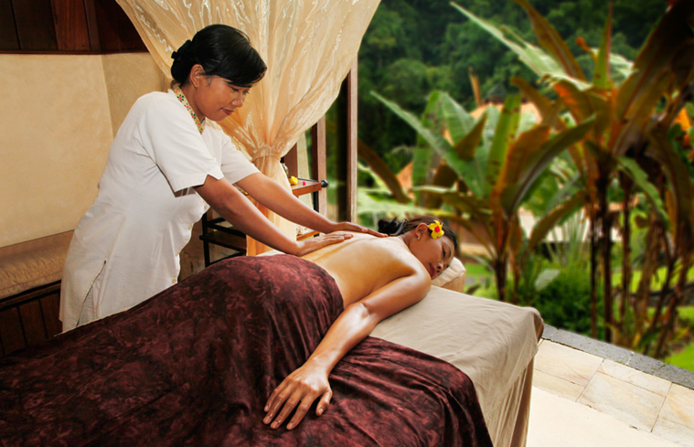 A massage at Sejati Spa