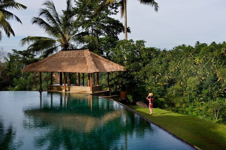 The pool at the Spa at Amandari in Bali