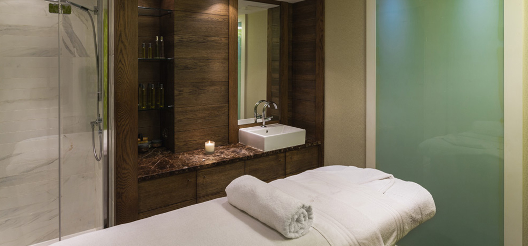 A treatment room at The Tethra Spa at The Merrion Hotel