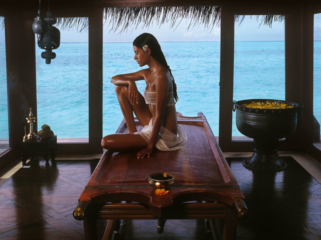 An Ayurveda treatment at Jiva Grande Spa at Taj Exotica Resort & Spa