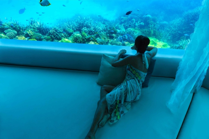 Take your treatment underwater at LIME Spa at the PER AQUUM Huvafen Fushi Maldives Hotel