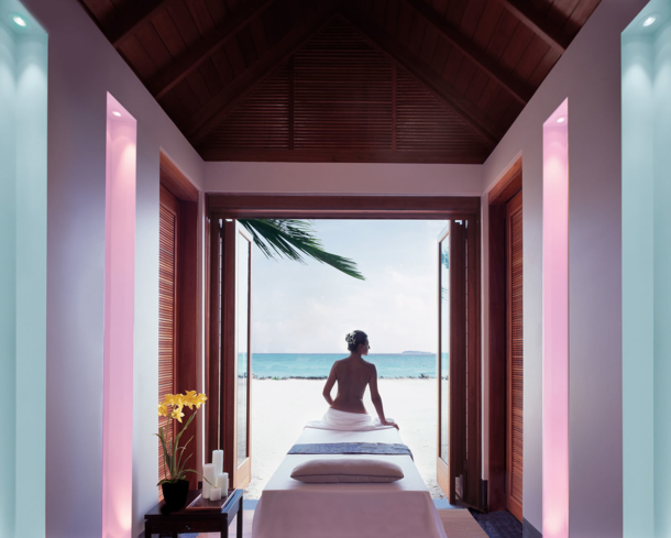 Soak in the scenery and decompress at One&Only Reethi Rah Spa in Maldives