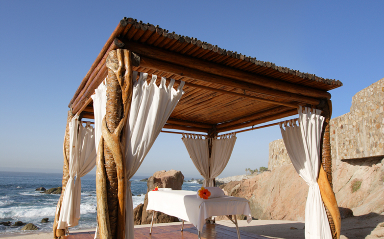 Enjoy a treatment outdoors with an ocean view at The Spa at Esperanza