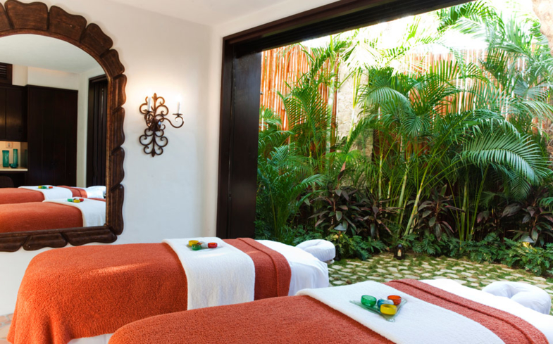 A treatment room at The Spa at Las Ventanas
