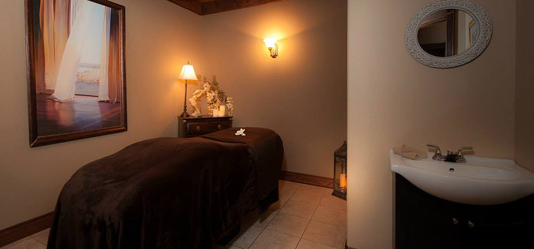 A treatment room at Ousia Day Spa