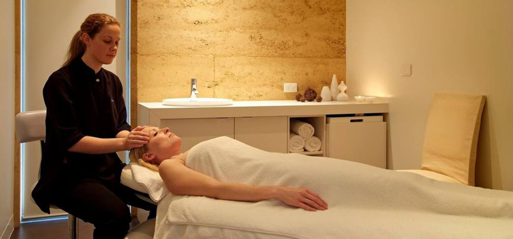 One of the treatment rooms at Natskin Day Spa Retreat at Balgownie Estate Vineyard Resort