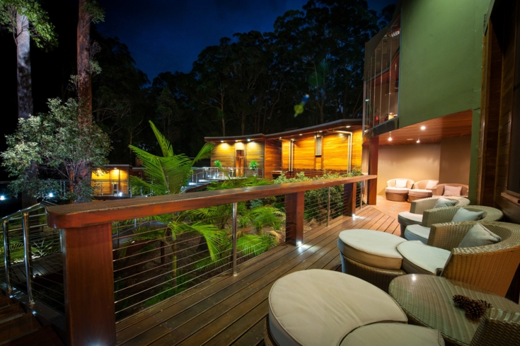 The relaxation deck at Gwinganna Spa