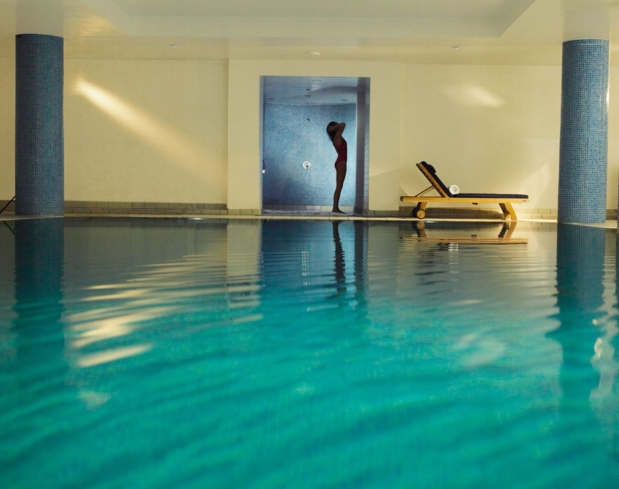 The indoor pool at Balmoral Spa