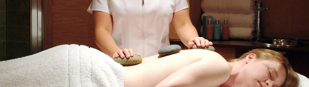 A hot stone massage at Marcliffe Spa