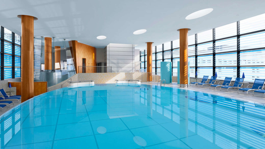 The pool at One Spa at the Sheraton Grand Hotel & Spa Edinburgh
