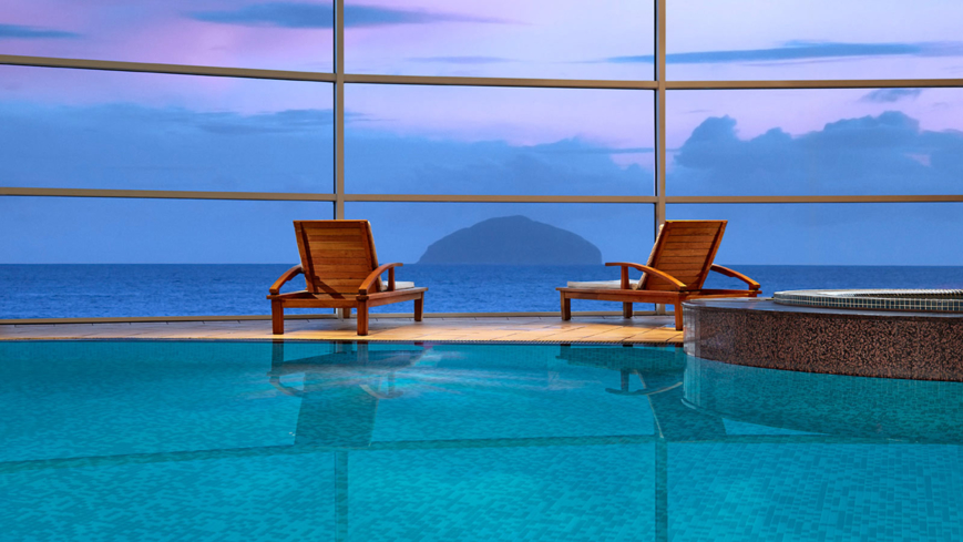 Enjoy a view of the Irish Sea at the Spa at Turnberry