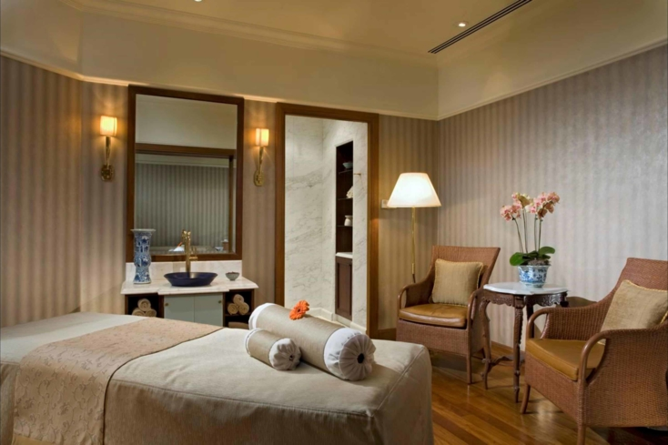 A spa suite at Raffles Spa at Raffles Singapore (Image courtesy of Raffles Hotels & Resorts)