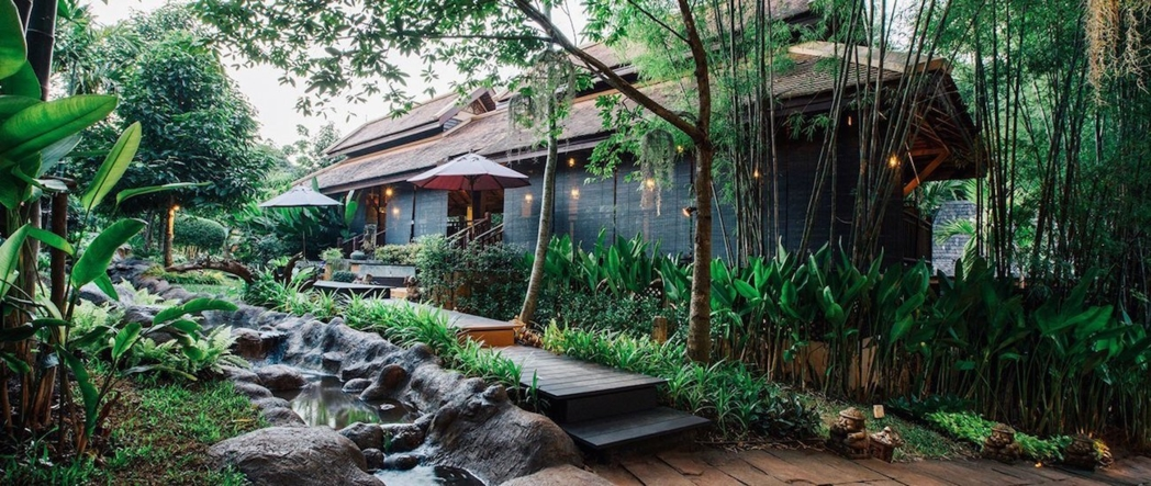 Bamboo Spa at The Pavana Chiang Mai Resort is surrounded by lush scenery