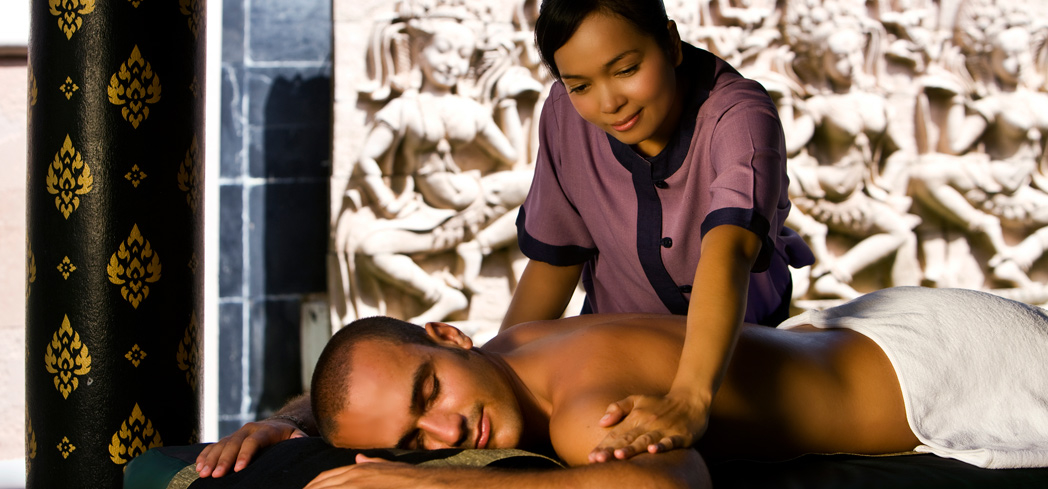 A massage at Banyan Tree Spa Phuket