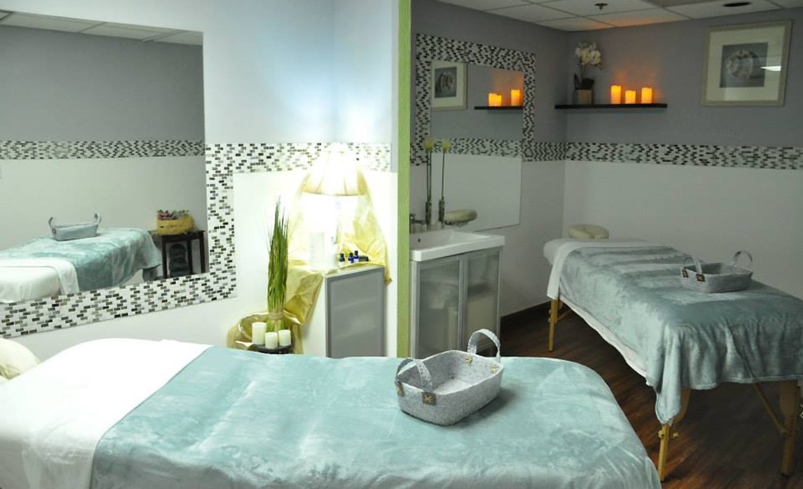 A treatment room at Mozaik Skin & Body in Scottsdale, Arizona