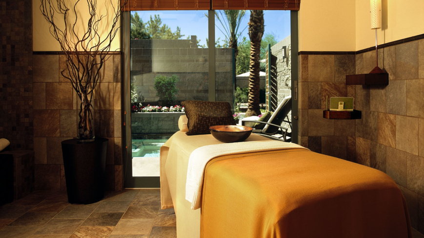 A treatment room at Spa Avania at the Hyatt Regency Scottsdale Resort & Spa at Gainey Ranch