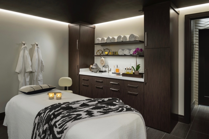 A treatment room at The Spa at CopperWynd in Fountain Hills, Arizona