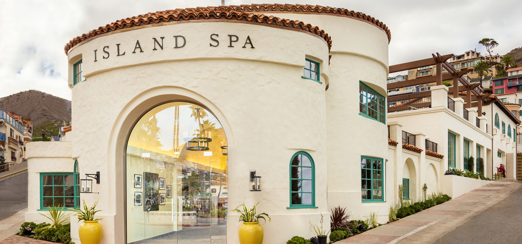 The exterior of Island Spa on Catalina Island