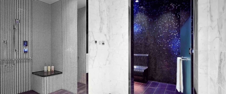 Shower and Steam Room at La Prairie Spa at Waldorf Astoria Beverly Hills