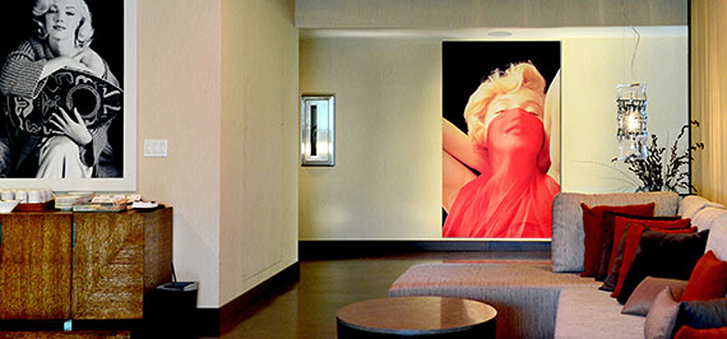The lounge area at the Marilyn Monroe Spa at Hyatt Regency Monterey