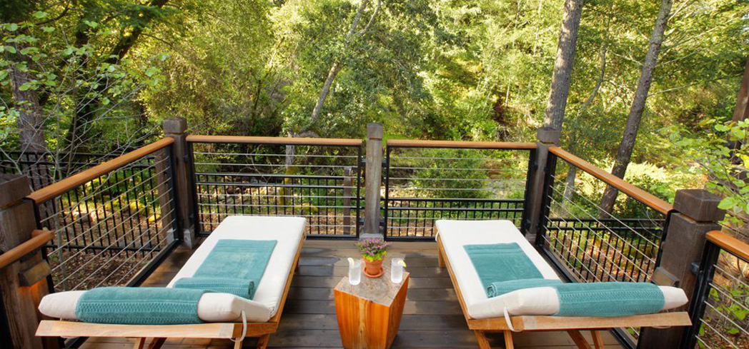 A peek of The Auberge Spa in Calistoga Ranch