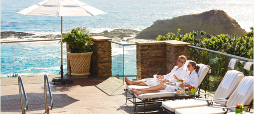 The pool and ocean view at Spa Montage Laguna Beach