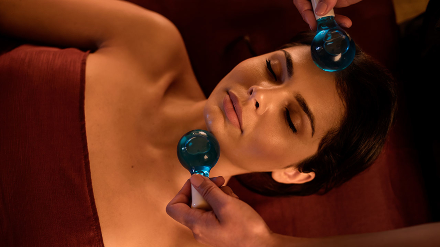 A facial treatment at Pacific Waters Spa at Hyatt Regency Huntington Beach Resort & Spa