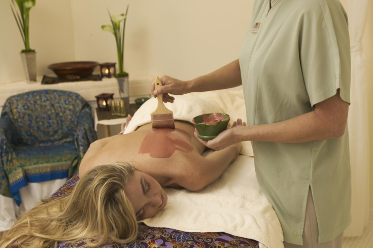 A treatment at The Spa at Torrey Pines